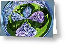 Hydrangea Cross Greeting Card