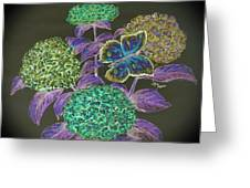 Hydrangea Negative Greeting Card