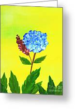Hydrangea Watercolor Greeting Card