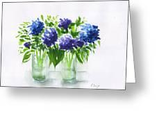Hydrangeas At Vics  Greeting Card
