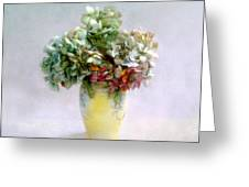 Hydrangeas In Autumn Still Life Greeting Card