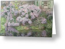 Hydrangeas On The Banks Of The River Lys Greeting Card