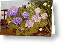 Hydrangeas On The Creek Bank Greeting Card