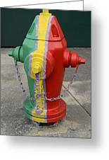 Hydrant With A Facelift Greeting Card