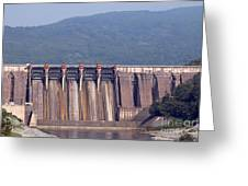 Hydroelectric Power Plants On River Greeting Card