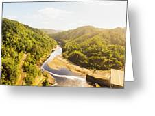 Hydropower Valley River Greeting Card