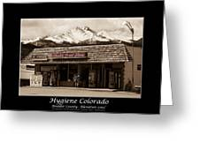 Hygiene Colorado Bw Fine Art Photography Print Greeting Card