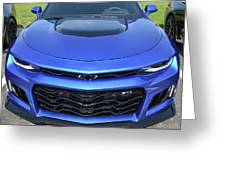 Hyper Blue Metallic 2017 Chevrolet Camaro Zl1 Greeting Card