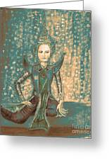I Am Siamese In Teal Greeting Card