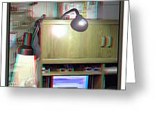 I C The Light - Use Red-cyan 3d Glasses Greeting Card