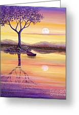 I Dreamt Of The Moon Greeting Card