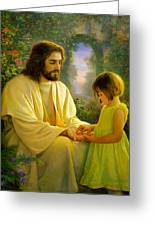 I Feel My Savior's Love Greeting Card by Greg Olsen