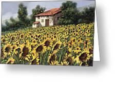 I Girasoli Nel Campo Greeting Card