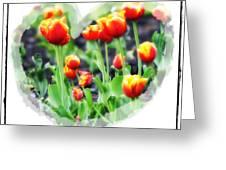 I Heart Tulips Greeting Card