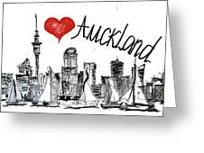 I Love Auckland  Greeting Card