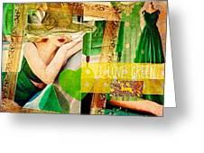 I Love Green Greeting Card