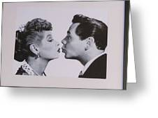 I Love Lucy Greeting Card by Shawn Hughes