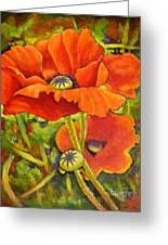 I Love Poppies Greeting Card