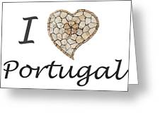 I Love Portugal Greeting Card