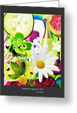 I Love Spring_with Border Greeting Card
