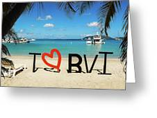 I Love The Bvi Greeting Card