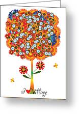 I Love Village - Poster Greeting Card