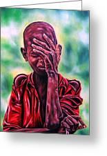I Must Go On Greeting Card by Shahid Muqaddim