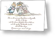 I Pronounce You Mouse And Wife Greeting Card