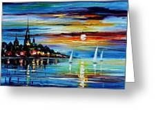 I Saw A Dream - Palette Knife Oil Painting On Canvas By Leonid Afremov Greeting Card