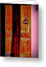 I Stand At The Door And Knock Greeting Card by Jill Tennison