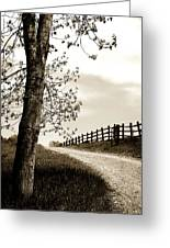 I Walk The Gravel Road 2 Greeting Card