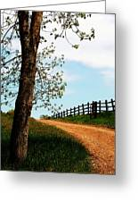 I Walk The Gravel Road Greeting Card
