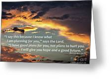 I Will Give You Hope Greeting Card