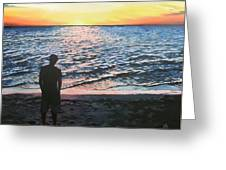 Ian's Sunset Greeting Card