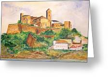 Ibiza Old Town Unesco Site Greeting Card
