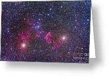 Ic 443 Supernova Remnant In Gemini Greeting Card