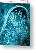 Ice Abstract Deep Blue Greeting Card