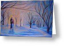 Ice And Embers Greeting Card