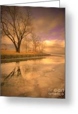 Ice And Light Greeting Card