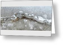 Ice And The Beach Four  Greeting Card