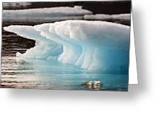 Ice Bears Greeting Card by Elisabeth Van Eyken