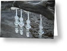 Ice Bells Greeting Card