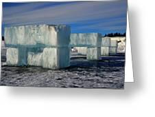 Ice Blocks Greeting Card