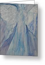 Ice Blue Angel Greeting Card