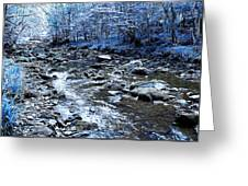 Ice Blue Forest Greeting Card