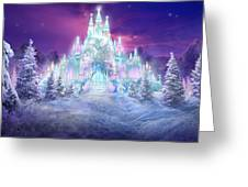 Ice Castle Greeting Card by Philip Straub
