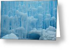 Ice Castles In Lincoln New Hampshire -2 Greeting Card