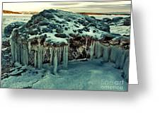 Ice Cave Of Stones Greeting Card