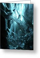 Iceland - Glacier Ice Caves #4 Greeting Card