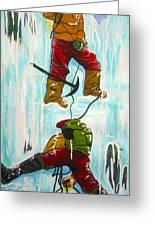 Ice Climbers Greeting Card